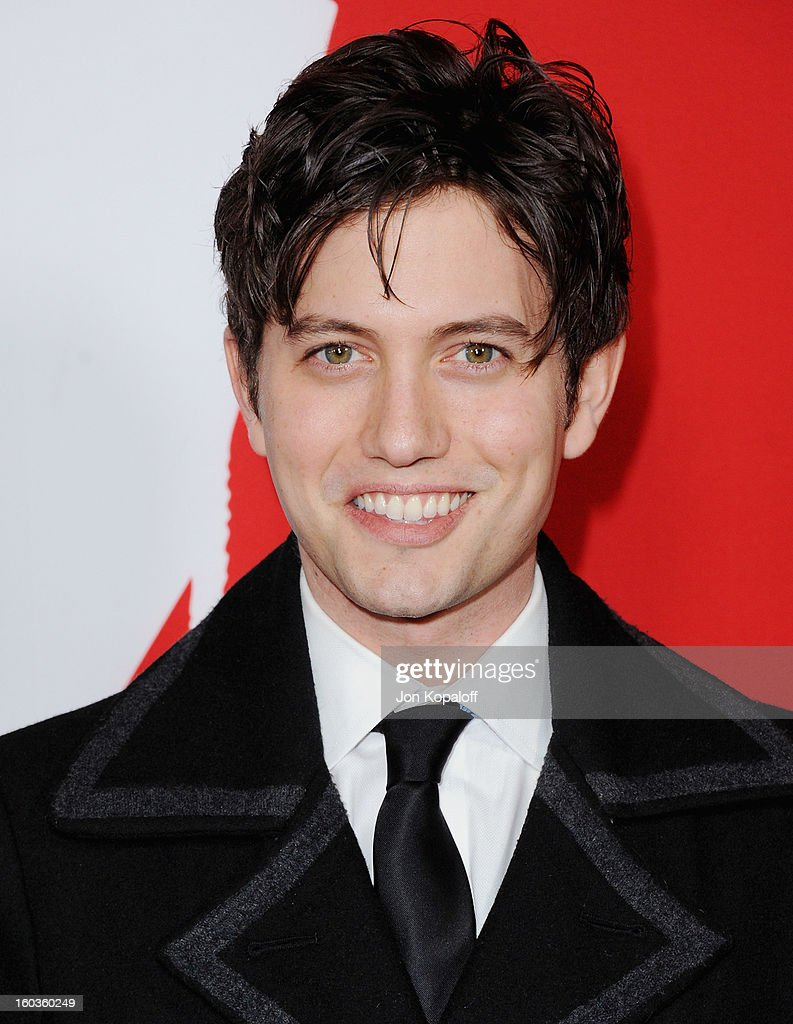 Actor Jackson Rathbone arrives at the Los Angeles Premiere 'Warm Bodies' at ArcLight Cinemas Cinerama Dome on January 29, 2013 in Hollywood, California.