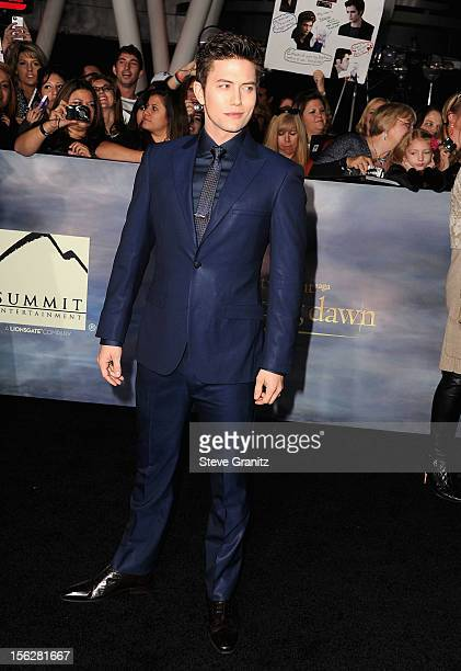 Actor Jackson Rathbone arrives at 'The Twilight Saga Breaking Dawn Part 2' Los Angeles premiere at Nokia Theatre LA Live on November 12 2012 in Los...