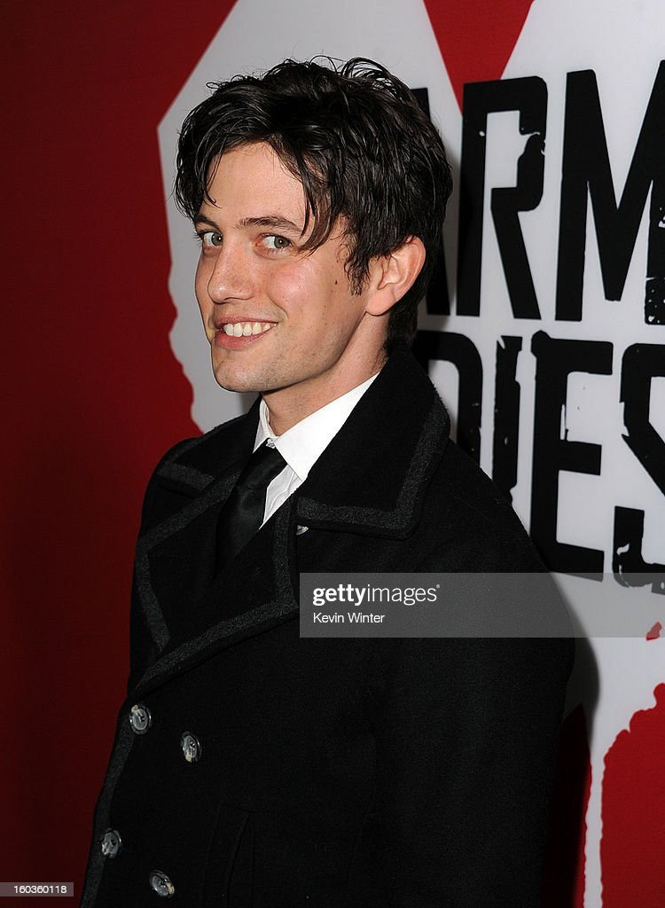 Actor Jackson Rathbone arrives for the Los Angeles premiere of Summit Entertainment's 'Warm Bodies' at ArcLight Cinemas Cinerama Dome on January 29, 2013 in Hollywood, California.