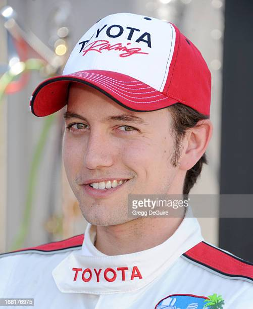 Actor Jackson Rathbone attends the 2013 Toyota Pro/Celebrity Race press practice day on April 9 2013 in Long Beach California