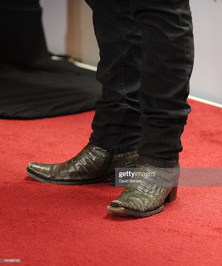 Actor Jackson Rathbone (shoe detail) attends the iHeartRadio Music Festival at the MGM Grand Garden Arena on September 20, 2013 in Las Vegas, Nevada.