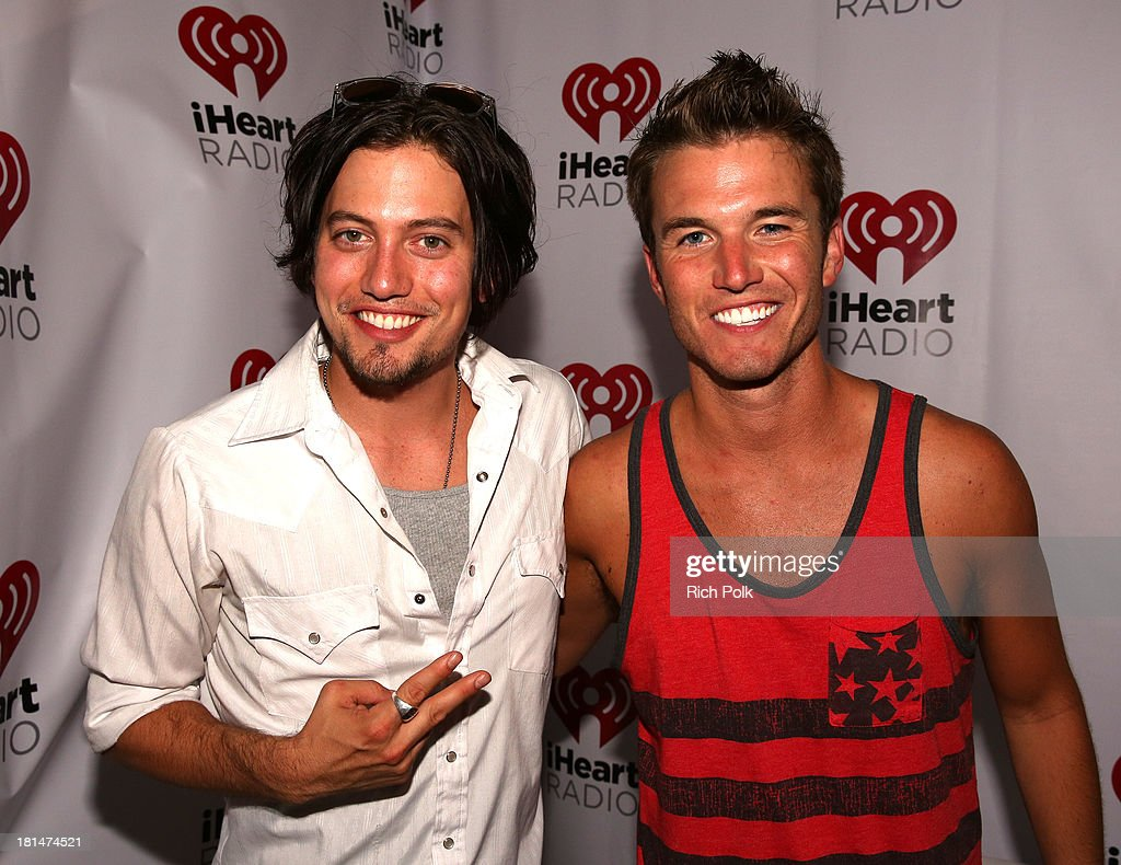 Actor Jackson Rathbone (L) backstage during the iHeartRadio Music Festival Village on September 21, 2013 in Las Vegas, Nevada.