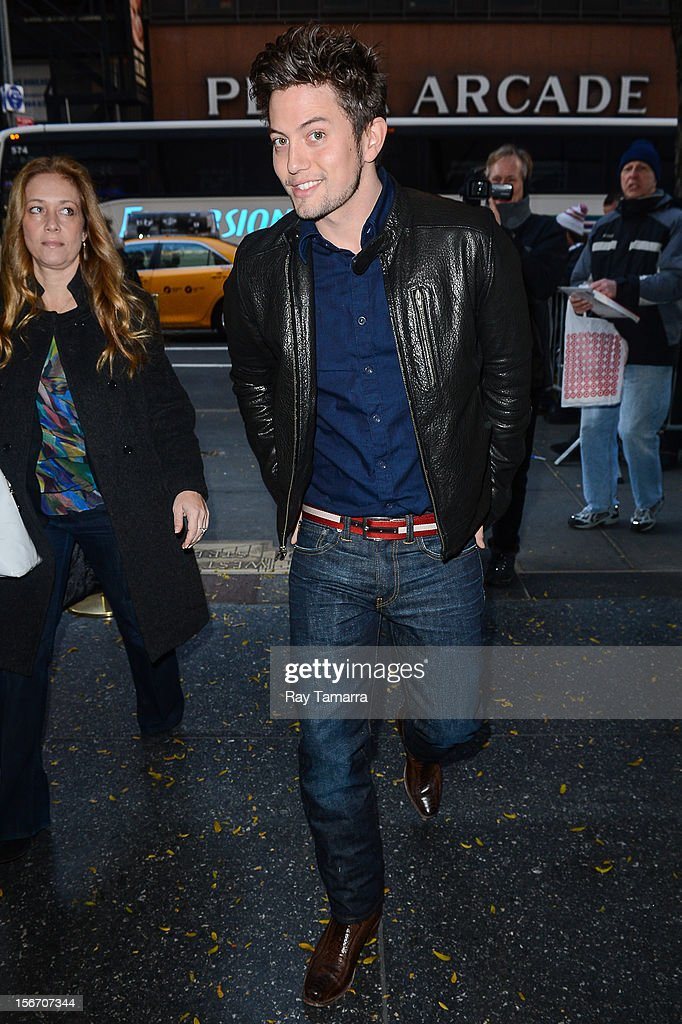 Actor <a gi-track='captionPersonalityLinkClicked' href=/galleries/search?phrase=Jackson+Rathbone&family=editorial&specificpeople=4070053 ng-click='$event.stopPropagation()'>Jackson Rathbone</a> enters the 'Today Show' taping at the NBC Rockefeller Center Studios on November 19, 2012 in New York City.