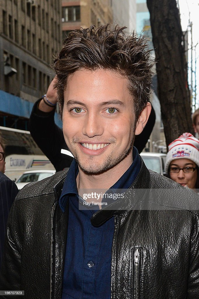 Actor <a gi-track='captionPersonalityLinkClicked' href=/galleries/search?phrase=Jackson+Rathbone&family=editorial&specificpeople=4070053 ng-click='$event.stopPropagation()'>Jackson Rathbone</a> leaves the 'Today Show' taping at the NBC Rockefeller Center Studios on November 19, 2012 in New York City.