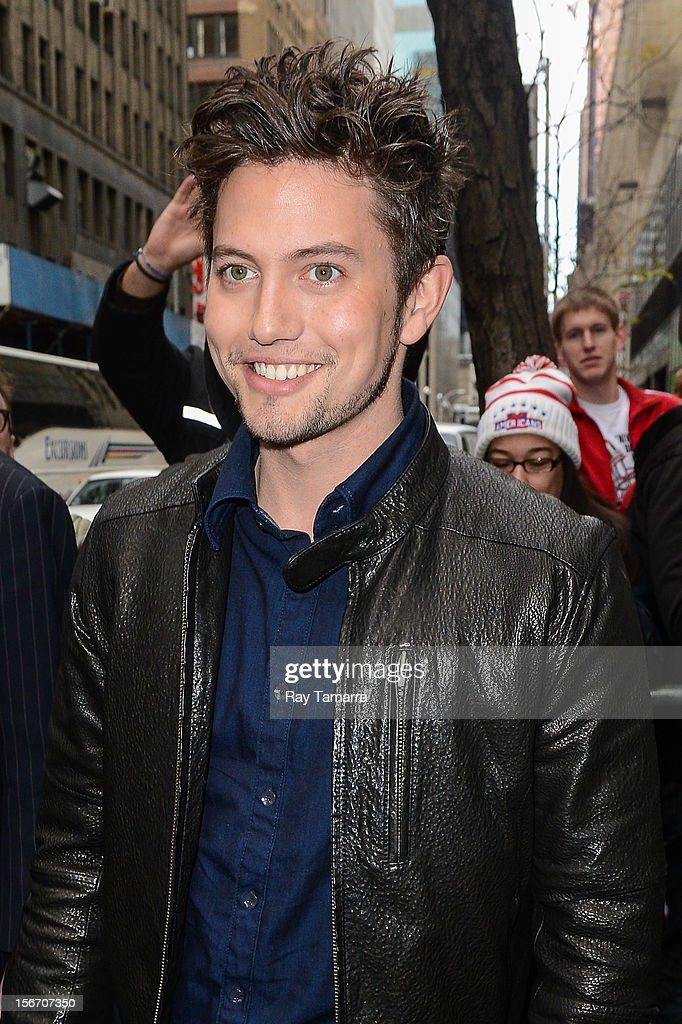 Actor Jackson Rathbone leaves the 'Today Show' taping at the NBC Rockefeller Center Studios on November 19, 2012 in New York City.