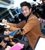 Actor Jackson Rathbone signs autographs for fans at the 'Twilight Saga Breaking Dawn Part 2' Fan Camp held at LA LIVE on November 11 2012 in Los...