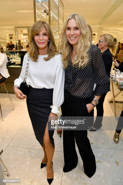 Actor Jaclyn Smith and host Alana Stewart attend Barneys New York Celebration of the Farrah Fawcett Foundation at Barneys New York Beverly Hills on...
