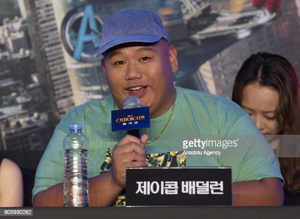 Actor Jacob Batalon attends a press conference to promote new movie 'SpiderMan Homecoming' at Corad Seoul Hotel in Seoul South Korea on July 03 2017