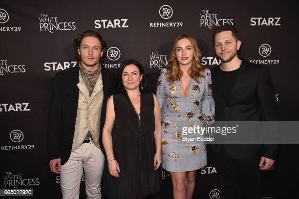 Actor Jacob CollinsLevy executive producer Emma Frost actor Jodie Comer and executive producer Scott Huff attend New York special screening event of...