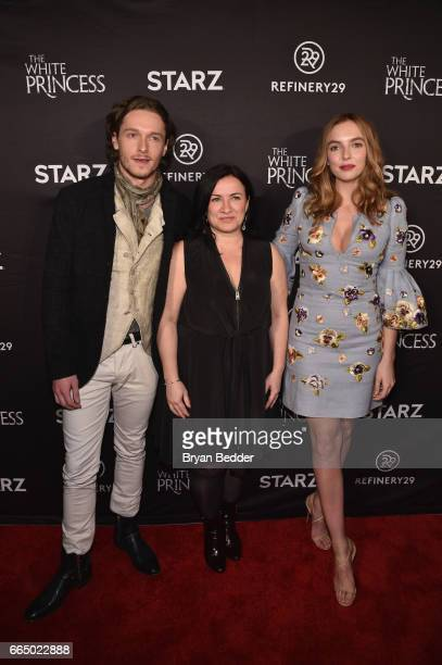 Actor Jacob CollinsLevy executive producer Emma Frost and actor Jodie Comer attend New York special screening event of STARZ 'The White Princess'...
