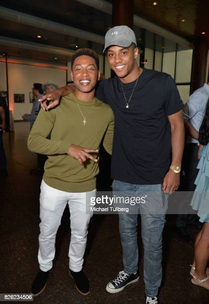 Actor Jacob Latimore and Keith Powers attend a special screening of 'Detroit' hosted by Annapurna Pictures at the Directors Guild of America on...