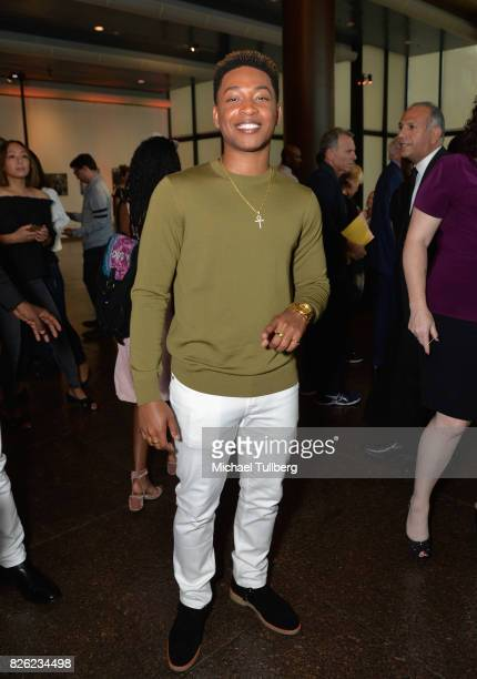 Actor Jacob Latimore attends a special screening of 'Detroit' hosted by Annapurna Pictures at the Directors Guild of America on August 3 2017 in Los...