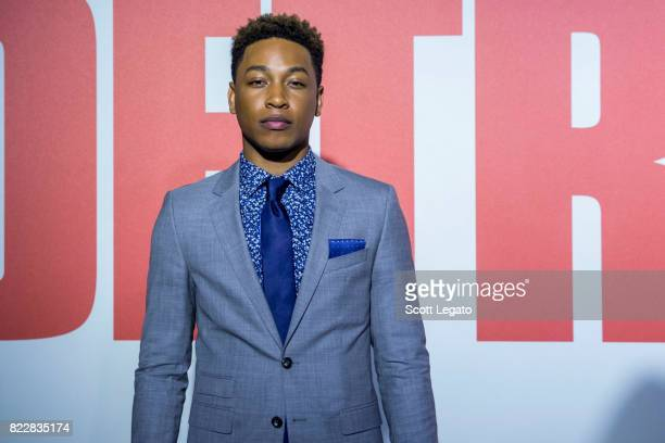 Actor Jacob Latimore attends the 'Detroit' world premiere at Fox Theatre on July 25 2017 in Detroit Michigan