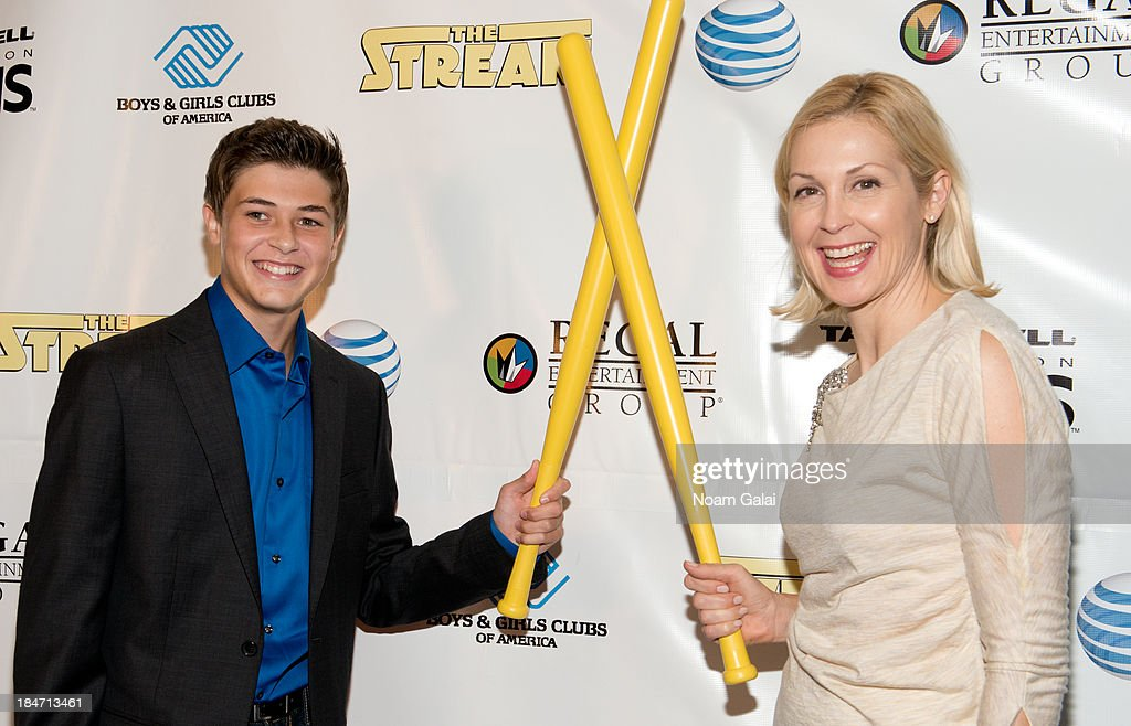 Actor Jacob M Williams and actress <a gi-track='captionPersonalityLinkClicked' href=/galleries/search?phrase=Kelly+Rutherford&family=editorial&specificpeople=217987 ng-click='$event.stopPropagation()'>Kelly Rutherford</a> attend the Boys & Girls Clubs of America New York screening of 'The Stream' at Regal Union Square Theatre, Stadium 14 on October 15, 2013 in New York City.