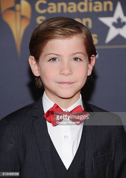 Actor Jacob Tremblay arrives at the 2016 Canadian Screen Awards at the Sony Centre for the Performing Arts on March 13 2016 in Toronto Canada