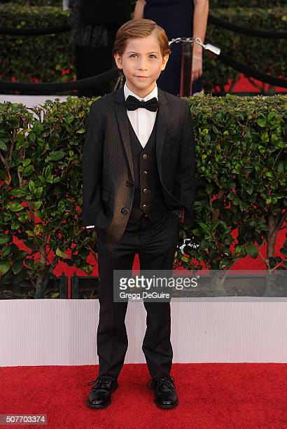 Actor Jacob Tremblay arrives at the 22nd Annual Screen Actors Guild Awards at The Shrine Auditorium on January 30 2016 in Los Angeles California