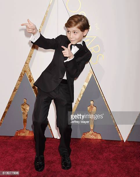 Actor Jacob Tremblay arrives at the 88th Annual Academy Awards at Hollywood Highland Center on February 28 2016 in Hollywood California