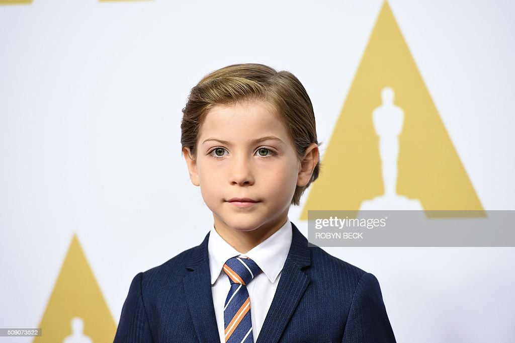 Actor Jacob Tremblay arrives at the 88th Oscar Nominees Luncheon in Beverly Hills, California, February 8, 2016. / AFP / ROBYN BECK