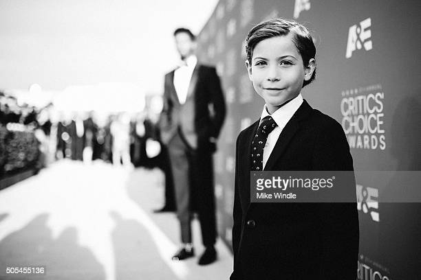 Actor Jacob Tremblay attends the 21st annual Critics' Choice Awards at Barker Hangar on on January 17 2016 in Santa Monica California