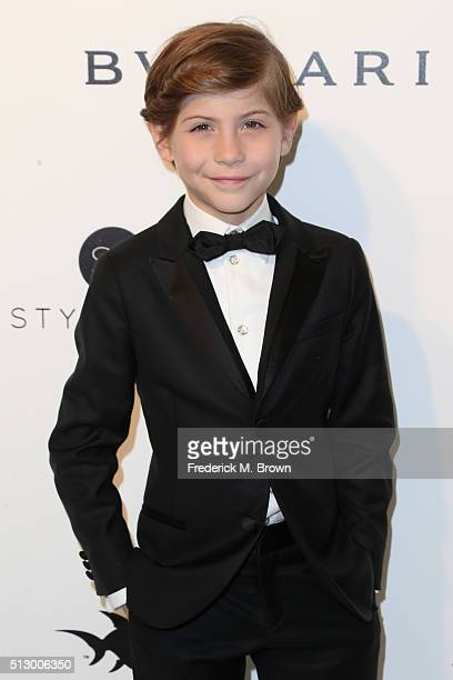 Actor Jacob Tremblay attends the 24th Annual Elton John AIDS Foundation's Oscar Viewing Party on February 28 2016 in West Hollywood California