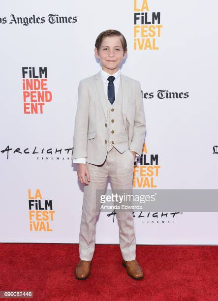 Actor Jacob Tremblay attends the opening night premiere of Focus Features' 'The Book of Henry' during the 2017 Los Angeles Film Festival at Arclight...
