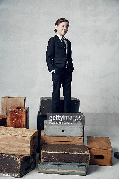 Actor Jacob Tremblay poses for a portrait during the 21st Annual Critics' Choice Awards at Barker Hangar on January 17 2016 in Santa Monica California