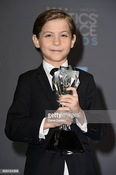 Actor Jacob Tremblay winner of the award for Best Young Actor/Actress for 'Room' poses in the press room during the 21st Annual Critics' Choice...