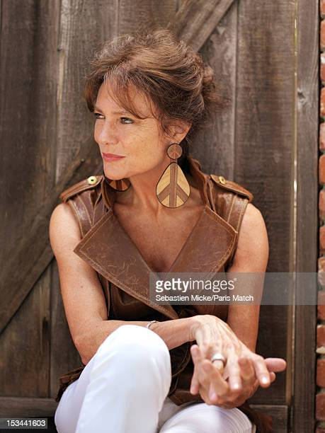 Actor Jacqueline Bisset is photographed at her home in Beverly Hills for Paris Match on July 15 2012 in Los Angeles California