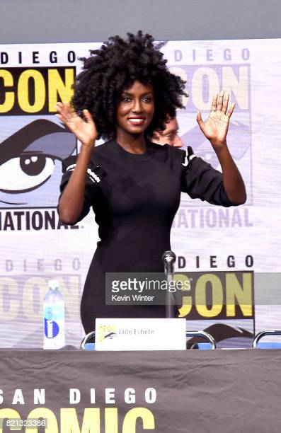 Actor Jade Eshete at Dirk Gently's Holistic Detective Agency BBC America Official Panel during ComicCon International 2017 at San Diego Convention...