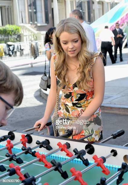Actor Jade Pettyjohn celebrates the 100th episode of Nickelodeon's The Thundermans at Paramount Studios on June 28 2017 in Hollywood California