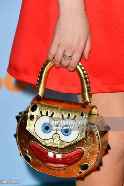 Actor Jade Pettyjohn handbag detail at Nickelodeon's 2017 Kids' Choice Awards at USC Galen Center on March 11 2017 in Los Angeles California