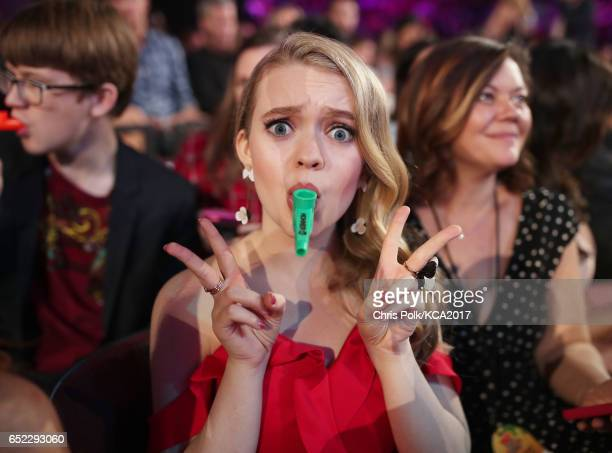 Actor Jade Pettyjohn onstage at Nickelodeon's 2017 Kids' Choice Awards at USC Galen Center on March 11 2017 in Los Angeles California