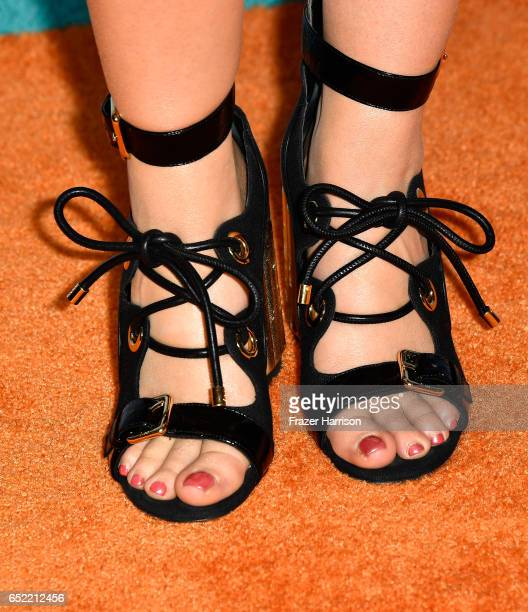 Actor Jade Pettyjohn shoe detail at Nickelodeon's 2017 Kids' Choice Awards at USC Galen Center on March 11 2017 in Los Angeles California