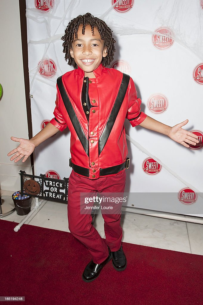 Actor Jaden Betts attends the former Pussycat Doll Kaya Jone's 'Halloween Doll' celebratory event at Sweet! Hollywood Boutique on October 17, 2013 in Hollywood, California.