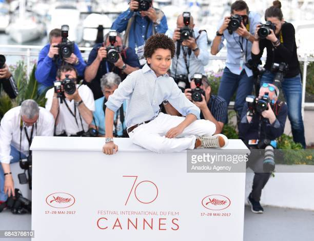 US actor Jaden Michael poses during a photocall for the film 'Wondersrtruck' in competition at the 70th annual Cannes Film Festival in Cannes France...