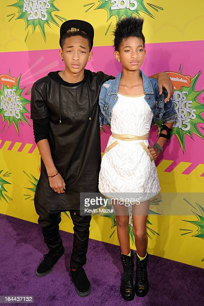 Actor Jaden Smith and actress Willow Smith arrive at Nickelodeon's 26th Annual Kids' Choice Awards at USC Galen Center on March 23 2013 in Los...