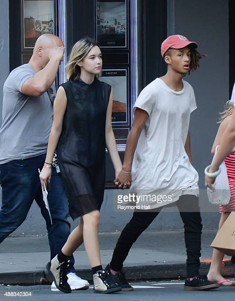 Actor Jaden Smith and Sarah Snyder seen walking in Soho on September 15 2015 in New York City