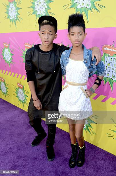 Actor Jaden Smith and Willow Smith arrive at Nickelodeon's 26th Annual Kids' Choice Awards at USC Galen Center on March 23 2013 in Los Angeles...