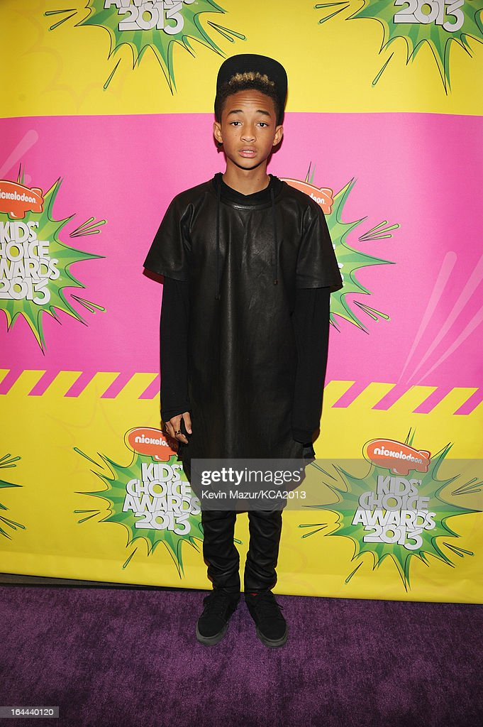 Actor <a gi-track='captionPersonalityLinkClicked' href=/galleries/search?phrase=Jaden+Smith&family=editorial&specificpeople=709174 ng-click='$event.stopPropagation()'>Jaden Smith</a> attends Nickelodeon's 26th Annual Kids' Choice Awards at USC Galen Center on March 23, 2013 in Los Angeles, California.