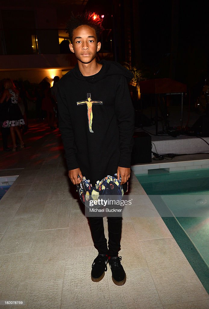 Actor Jaden Smith attends the 11th Annual the 11th Annual Teen Vogue Young Hollywood Party With Emporio Armani With Emporio Armani on September 27...