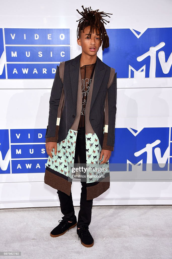 Actor Jaden Smith attends the 2016 MTV Video Music Awards at Madison Square Garden on August 28 2016 in New York City