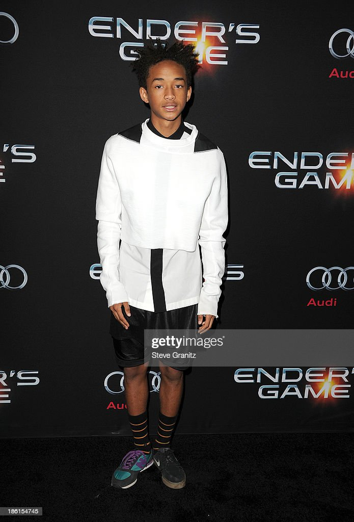 Actor Jaden Smith attends the 'Ender's Game' Los Angeles premiere at TCL Chinese Theatre on October 28 2013 in Hollywood California