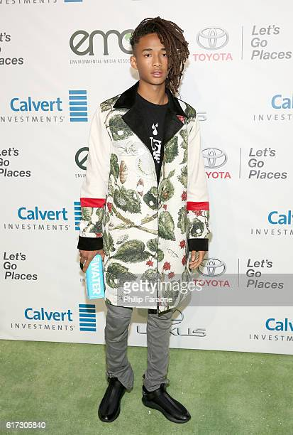 Actor Jaden Smith attends the Environmental Media Association 26th Annual EMA Awards Presented By Toyota Lexus And Calvert at Warner Bros Studios on...