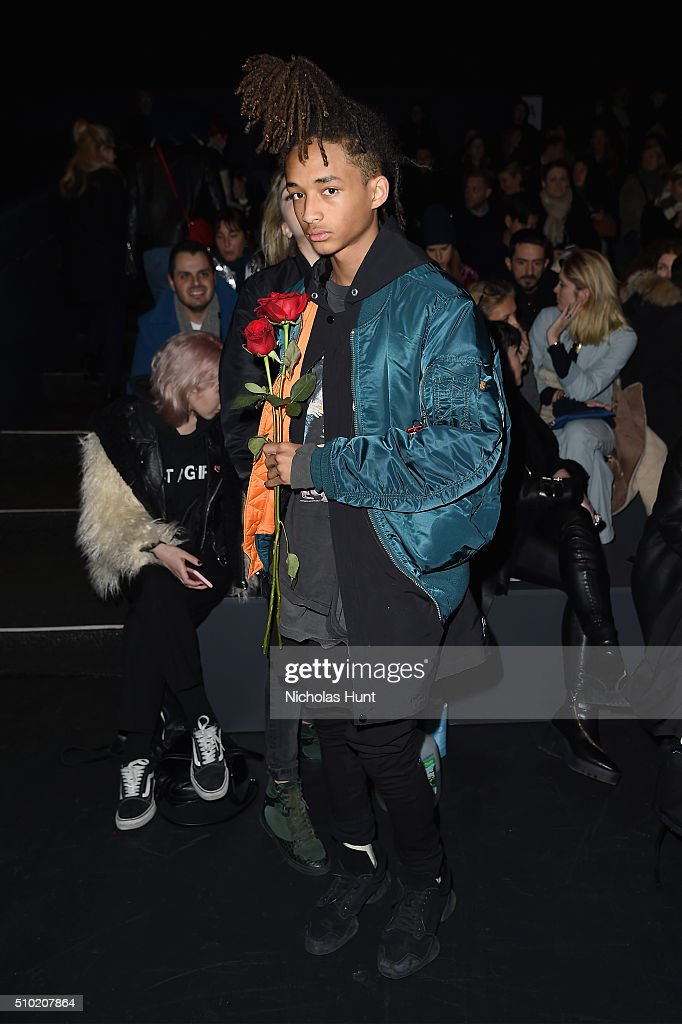 Actor <a gi-track='captionPersonalityLinkClicked' href=/galleries/search?phrase=Jaden+Smith&family=editorial&specificpeople=709174 ng-click='$event.stopPropagation()'>Jaden Smith</a> attends the Hood By Air Fall 2016 fashion show during New York Fashion Week: The Shows at The Arc, Skylight at Moynihan Station on February 14, 2016 in New York City.