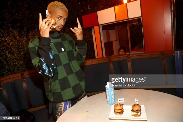 Actor Jaden Smith attends the Umami Burger x Jaden Smith Artist Series Launch Event at The Grove on October 11 2017 in Los Angeles California