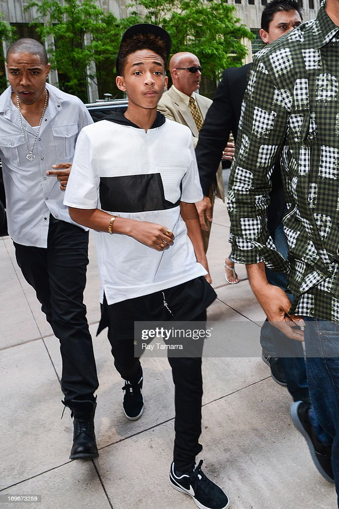 Actor Jaden Smith enters the Sirius XM Studios on May 30, 2013 in New York City.