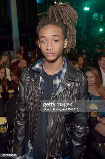 Actor Jaden Smith poses in the audience during the 2016 MTV Movie Awards at Warner Bros Studios on April 9 2016 in Burbank California MTV Movie...