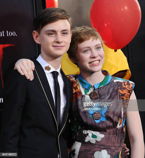 Actor Jaeden Lieberher and actress Sophia Lillis attends the premiere of 'It' at TCL Chinese Theatre on September 5 2017 in Hollywood California