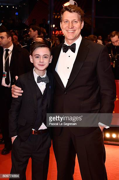 Actor Jaeden Lieberher and director Jeff Nichols attend the 'Midnight Special' premiere during the 66th Berlinale International Film Festival Berlin...