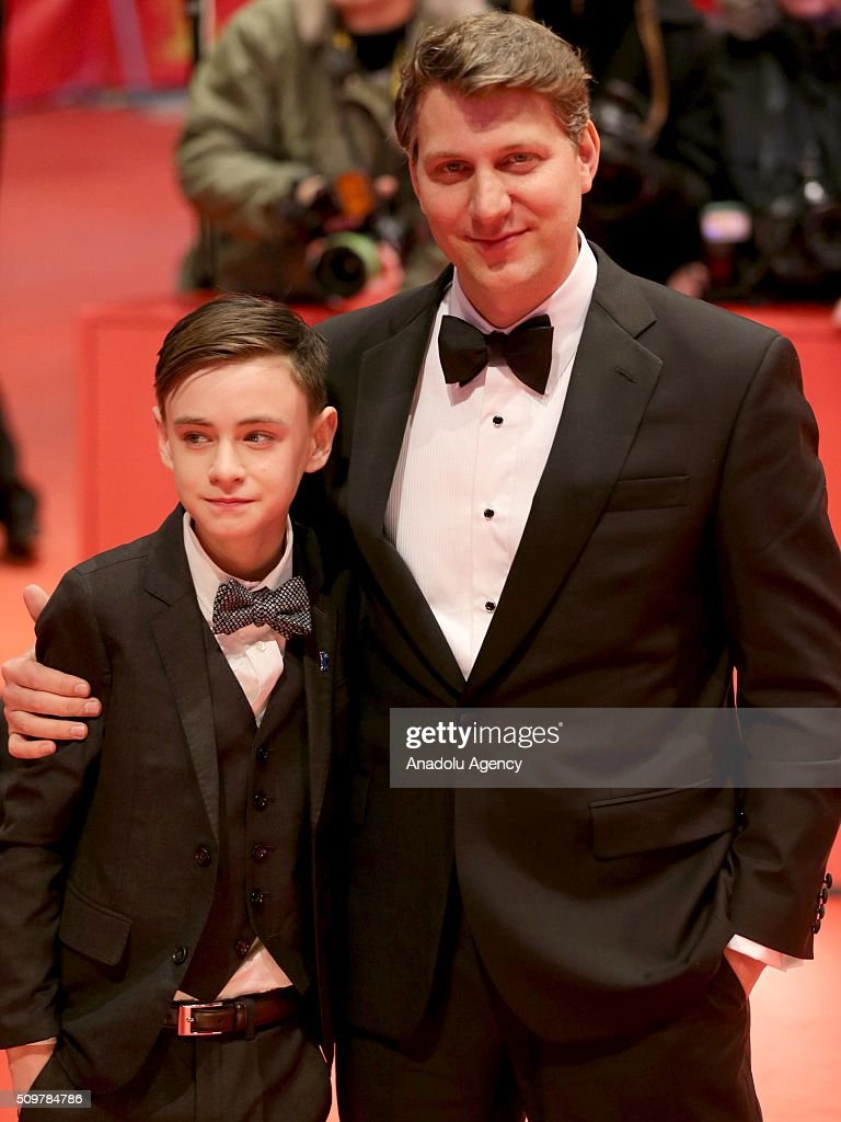 Actor Jaeden Lieberher (L) and director Jeff Nichols attend the 'Midnight Special' premiere during the 66th Berlinale International Film Festival Berlin at Berlinale Palace on February 12, 2016 in Berlin, Germany.
